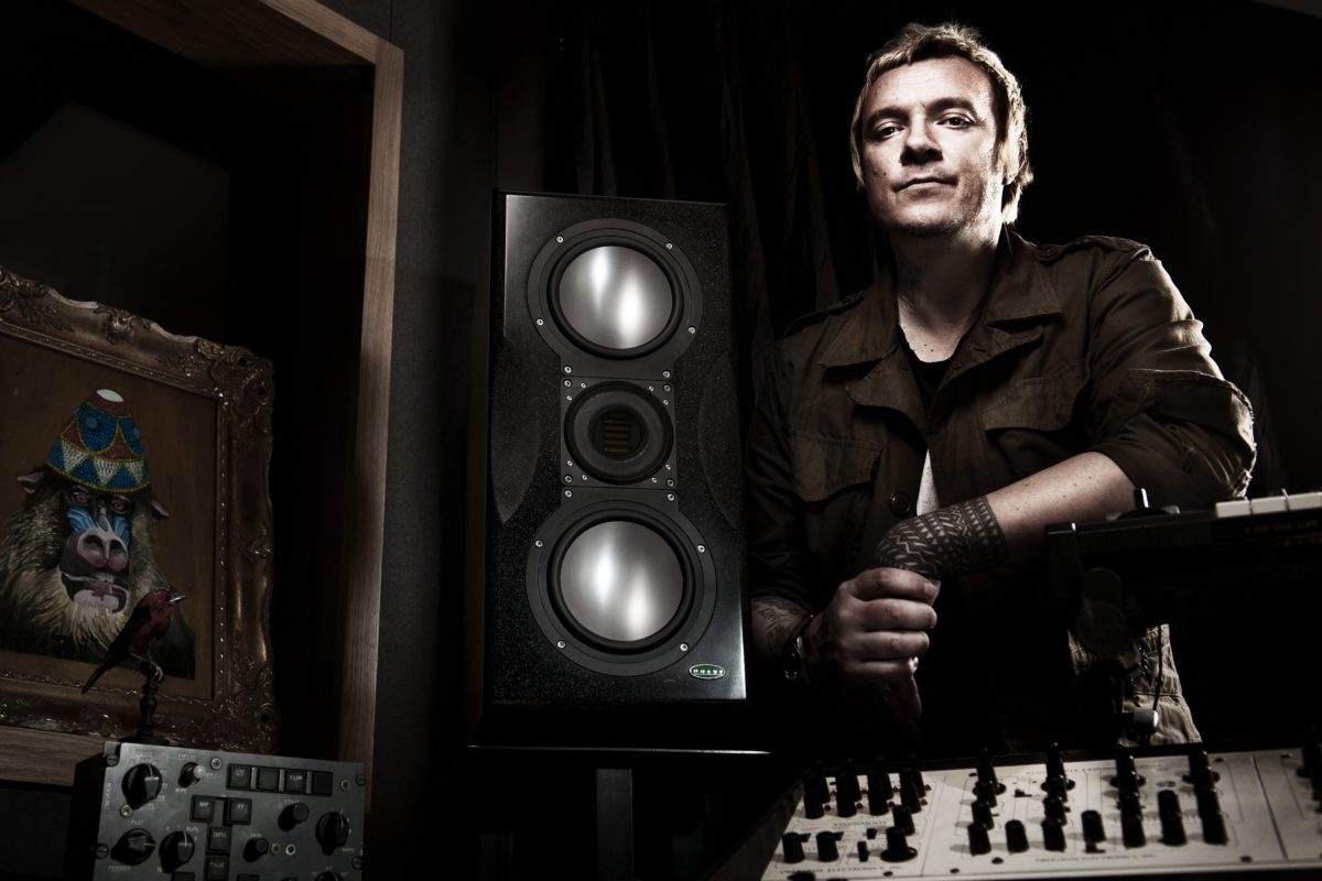 Liam Howlett of The Prodigy in the studio. He is truly a sample manipulation genius.