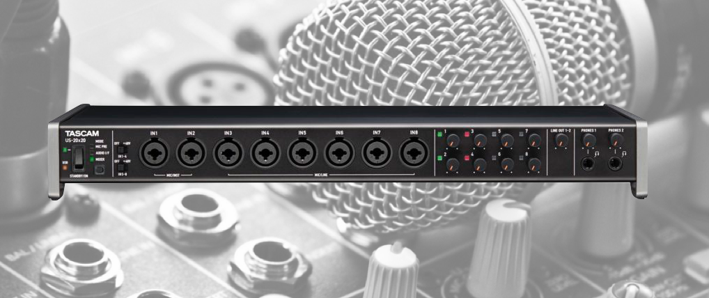Tascam Introduces US-20X20 Soundcard