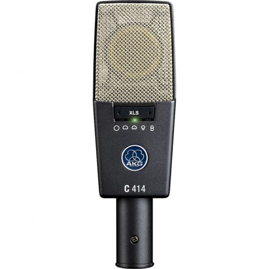 The AKG C414XLS has selectable polar patterns, making it popular in studio and live use.