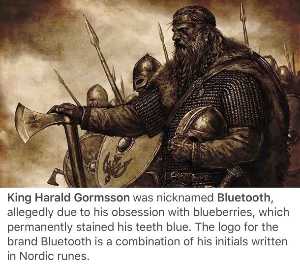 King Harald Gormsson, a.k.a. Bluetooth