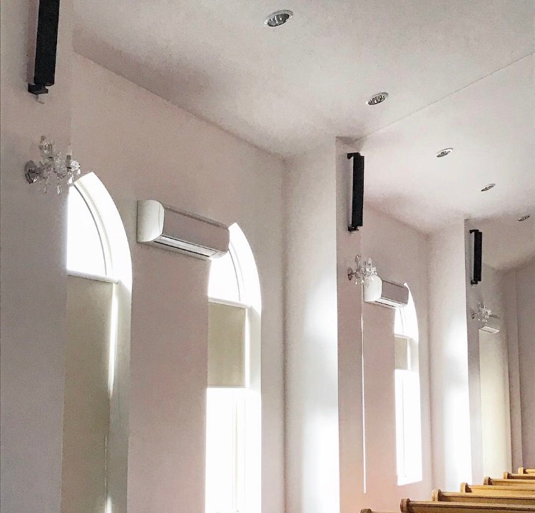 HK Audio E835's installed at St. Abdisho Church in Melbourne.