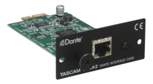 The Optional DANTE card for the Tascam SS-CD/R250N Players
