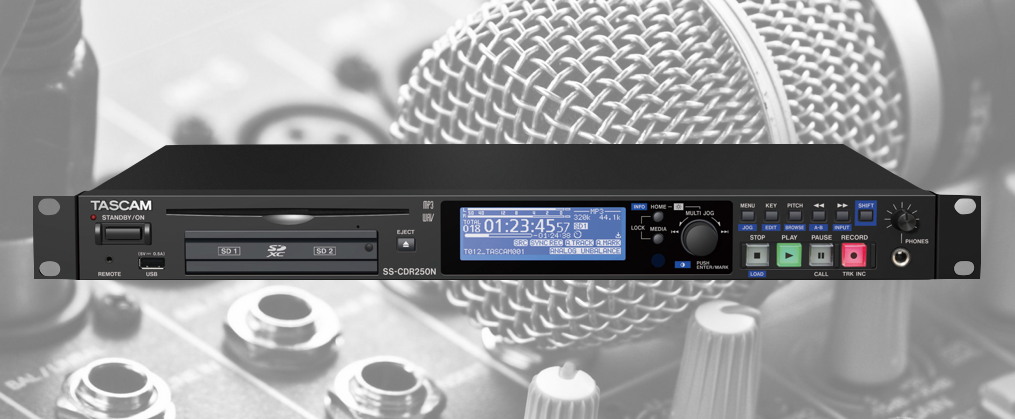 Tascam Announce Network Capable CD/SD Card Players