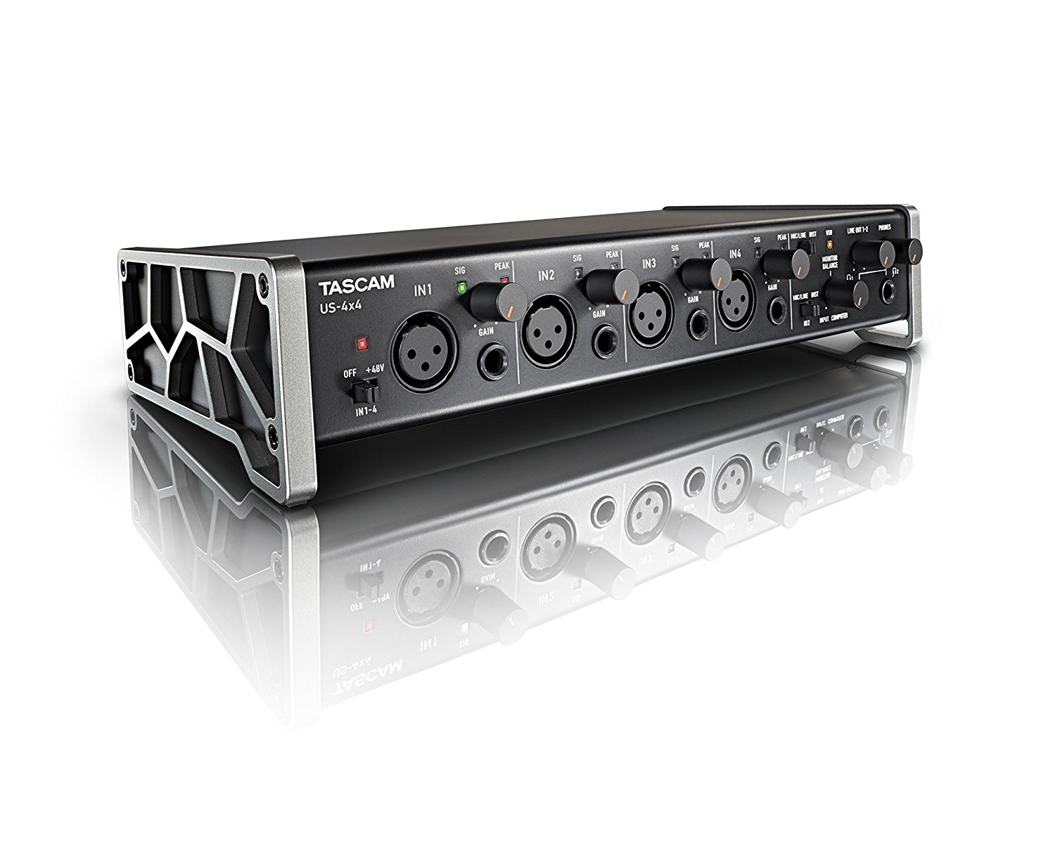 The Tascam US-4x4 is an excellent all-round soundcard.