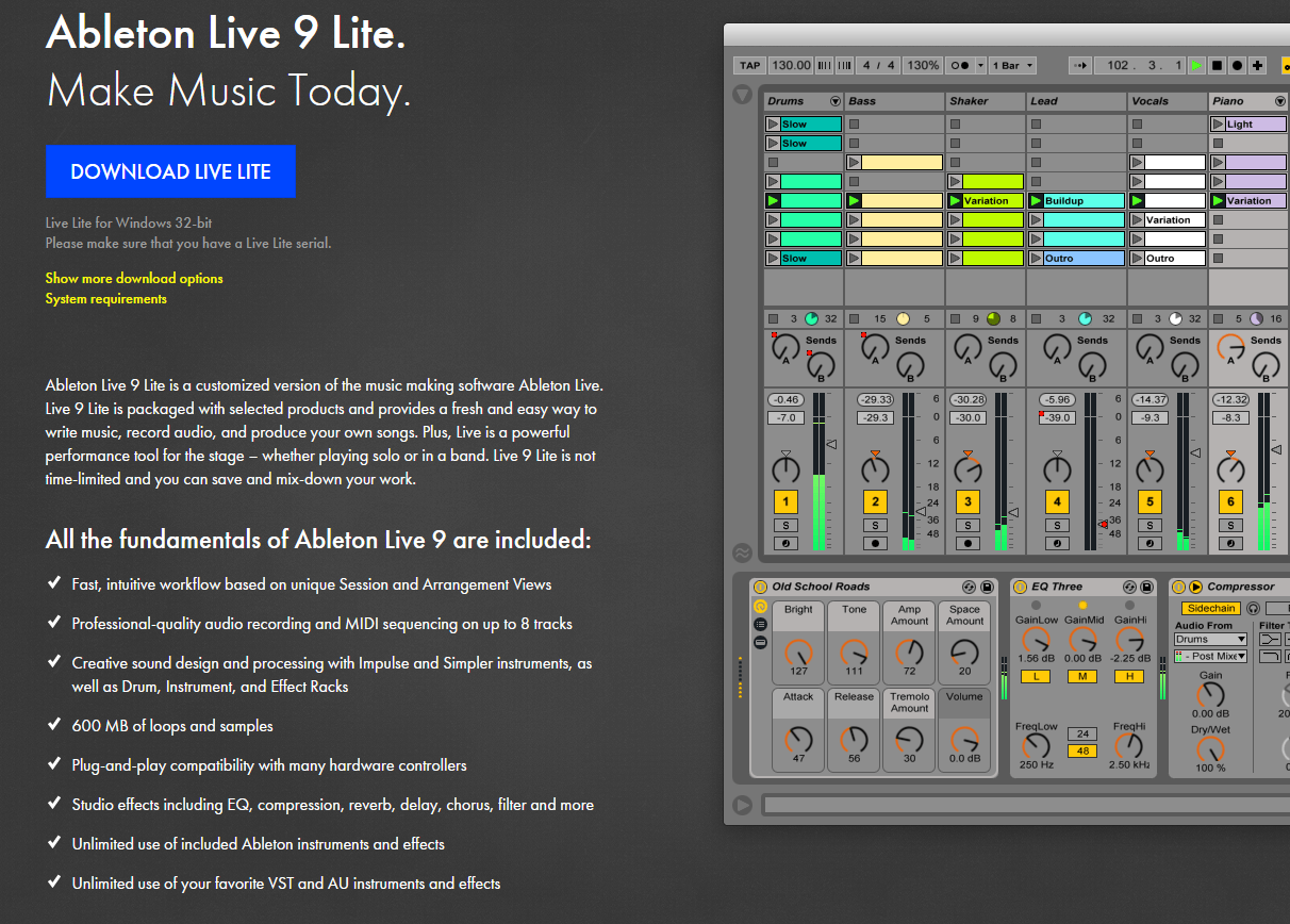 Ableton Live Lite is perfect for Podcasting, and comes free with the Tascam US-4x4 Soundcard.