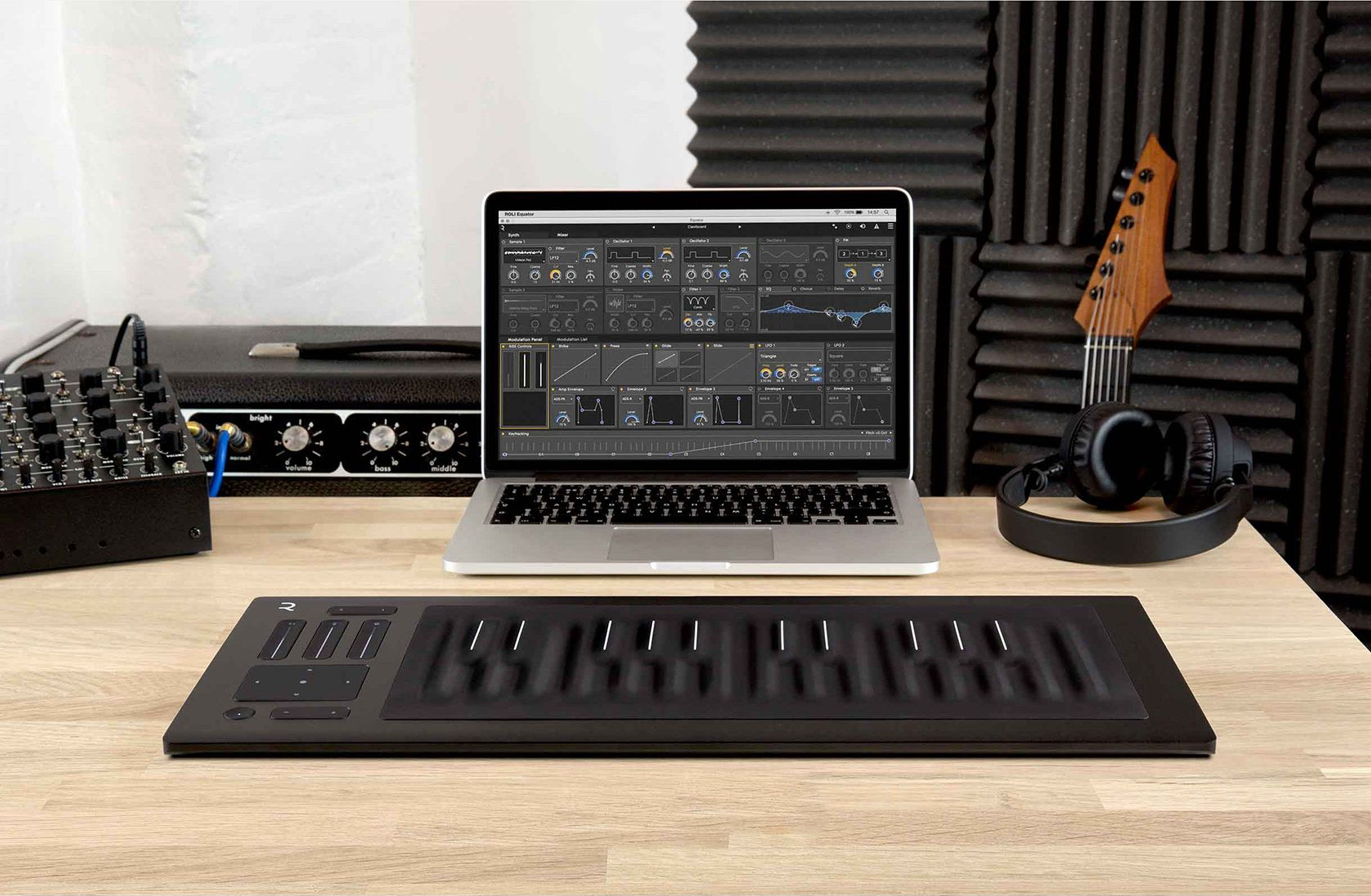 The Roli Seaboard Rise 25 is perfect for the project studio or touring musician