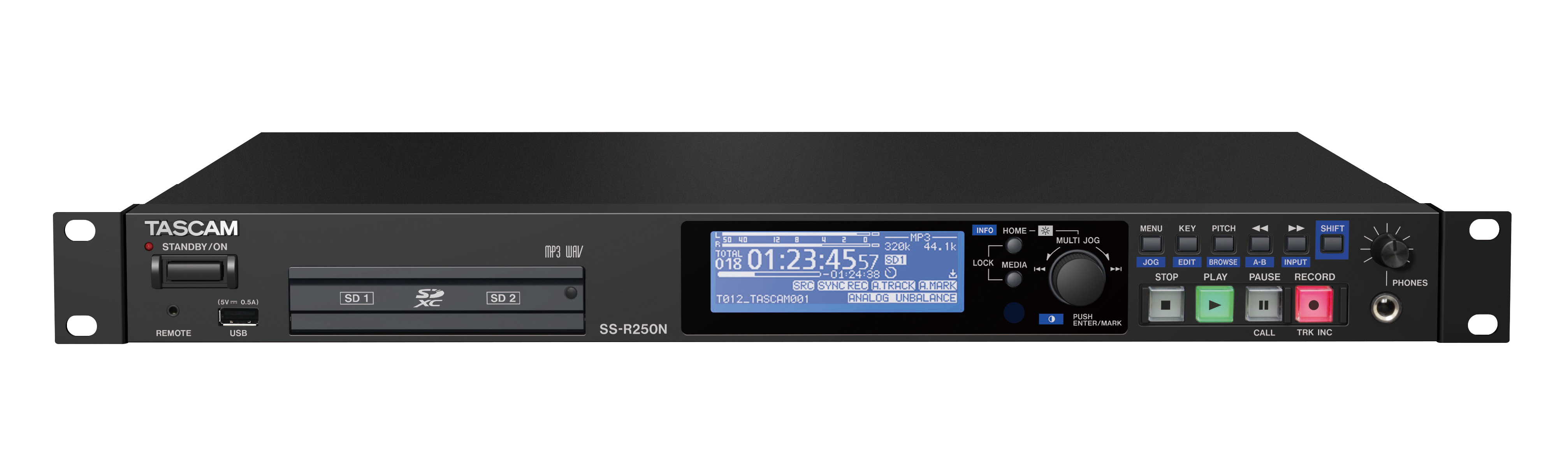 The Tascam SS-R250N Professional Network SD Player
