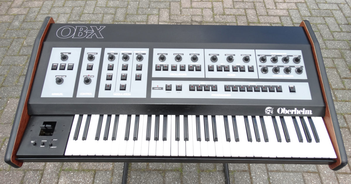 The Oberheim OB-X, the sound of mid-80's American pop and rock.