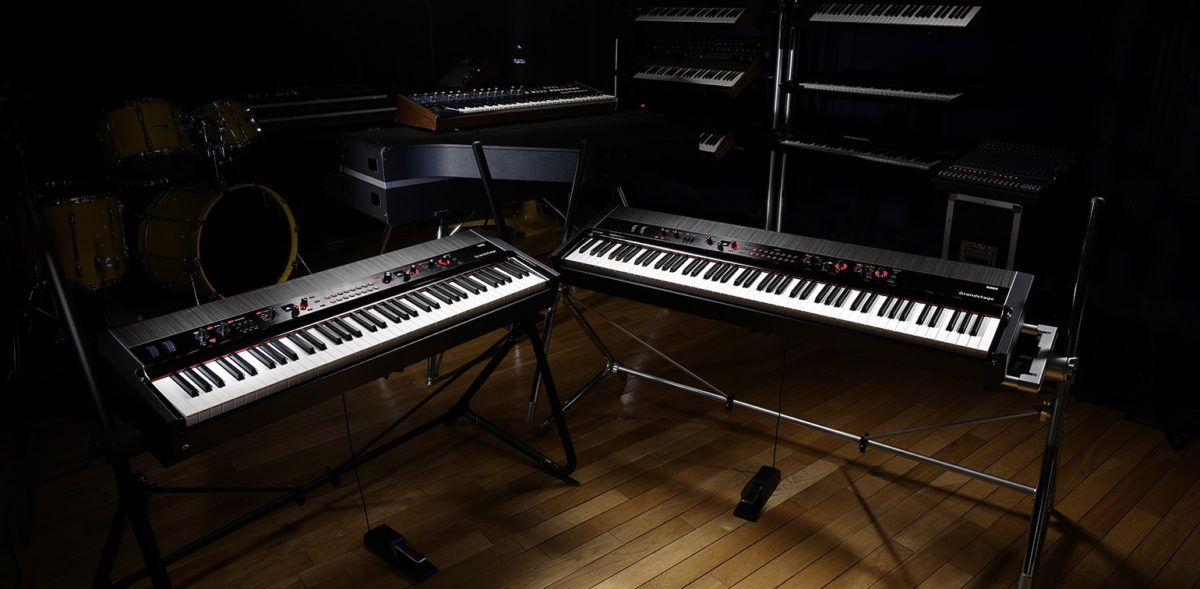 The Korg Grandstage is a premium stage piano available in 73 and 88 key versions.