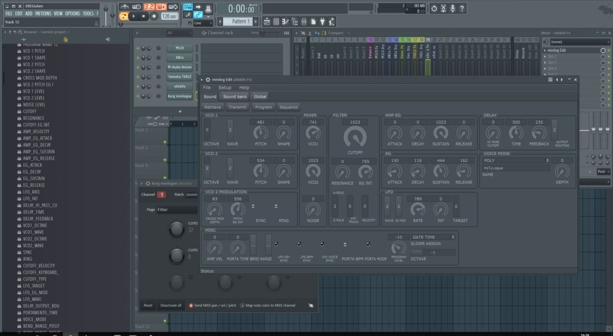 miniloguEDIT is a standalone and VST editor for the Korg Minilogue.