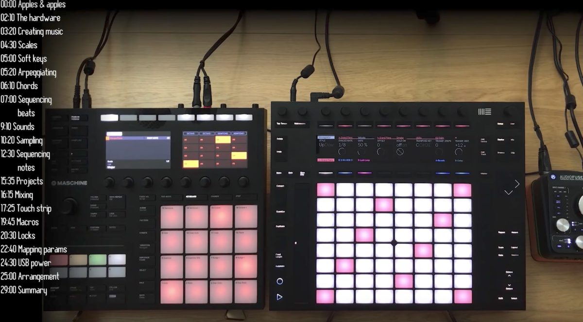 Another great video from Loopop comparing NI's Maschine Mk3 and the Ableton Push 2.