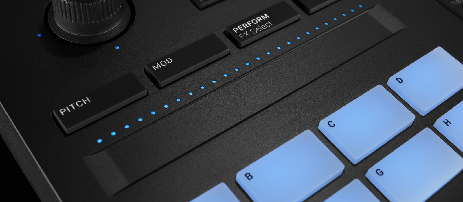 Maschine MK3 now features a Smart Strip for additional expressive and creative options.