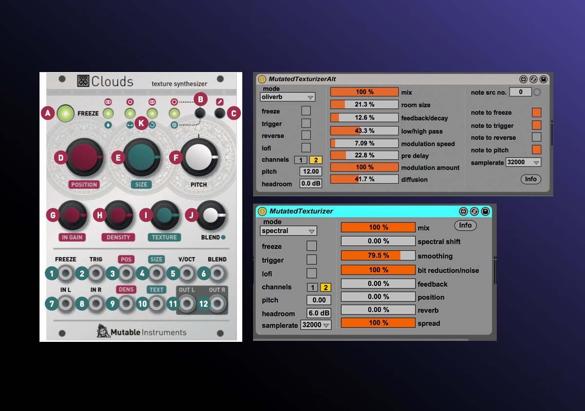 Max For Live: Free Mutated Texturizer Based on Mutable Instruments' Clouds Module