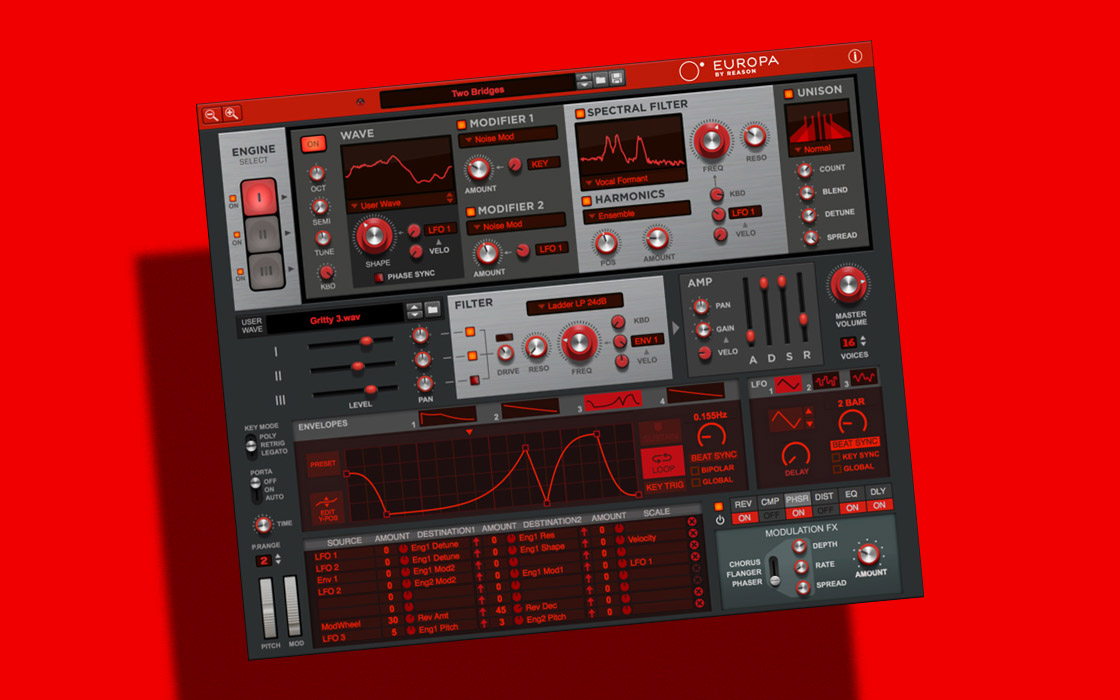 Reason's Europa Synth now Available as VST/AU Plugin & Free Web App