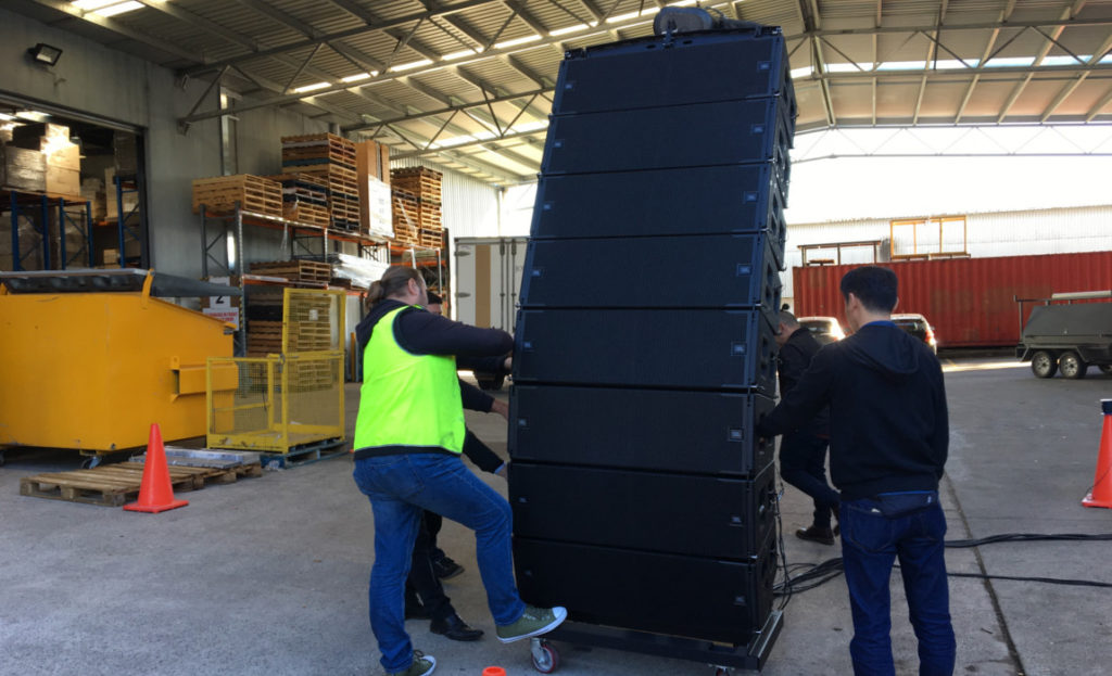 Harman's Suparman Delivers JBL A12 for Guy Sebastian On the Way Up