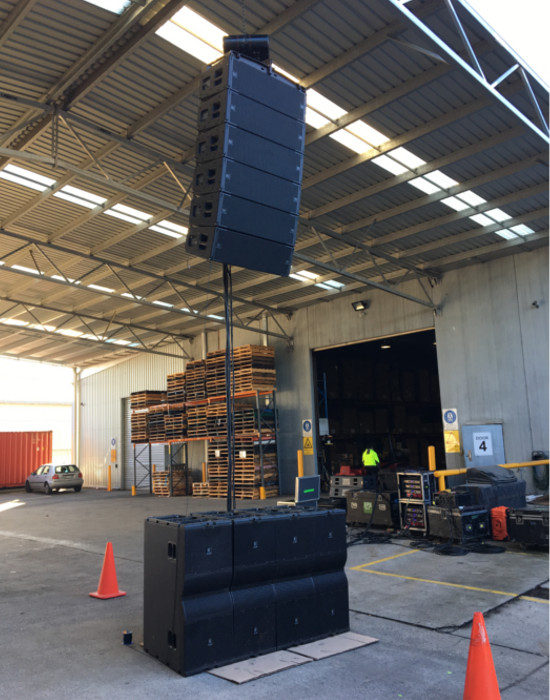 Harman's Suparman Delivers JBL A12 for Guy Sebastian with Sub