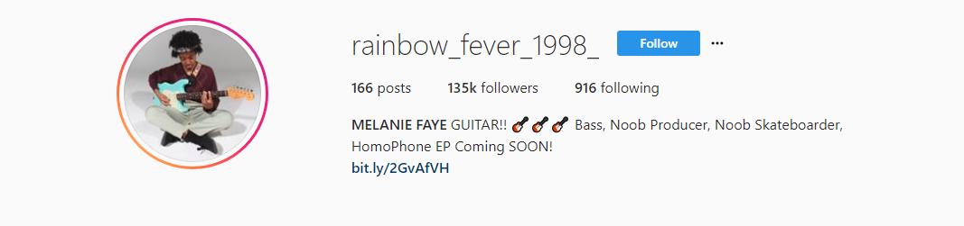 Melanie Faye Instagram Account