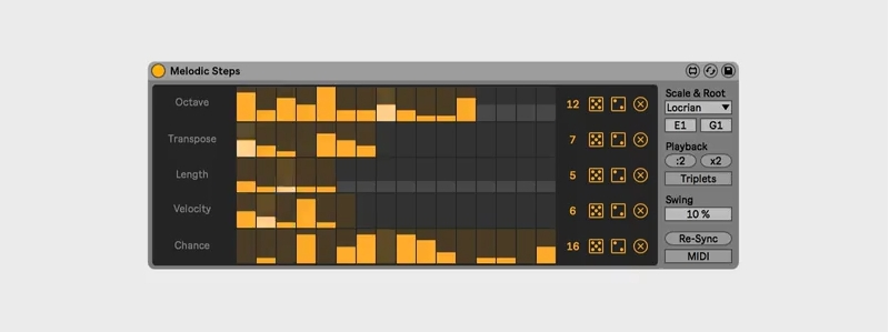Creative Extensions: Ableton Melodic Steps –