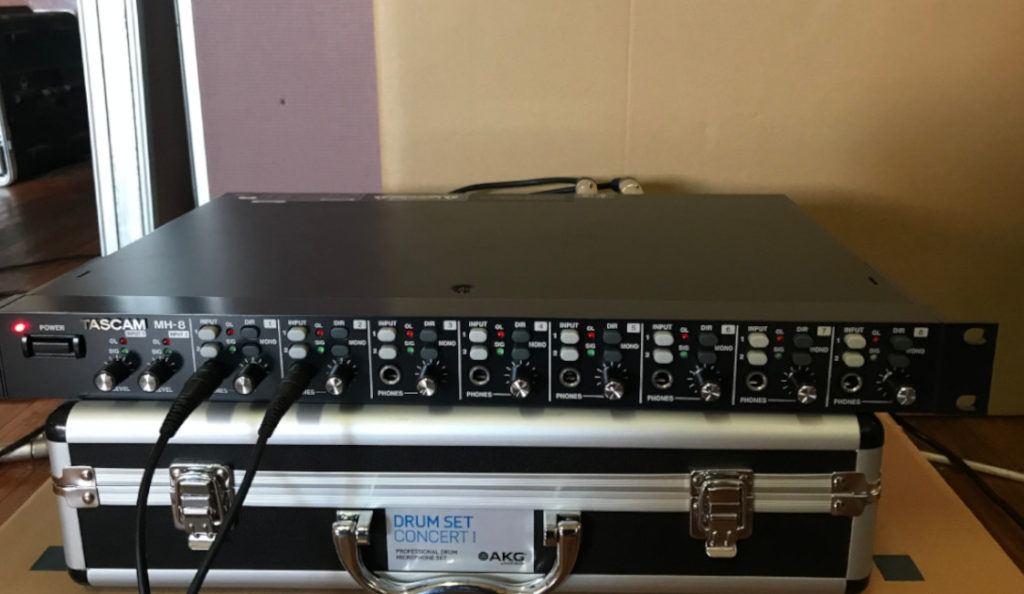 Live in the Studio: With the Tascam MH-8 and Soundcraft Ui24R