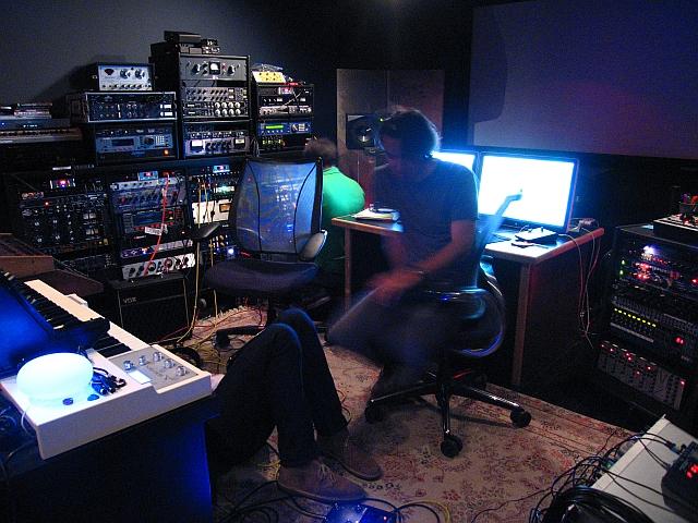 Reitzell in his studio
