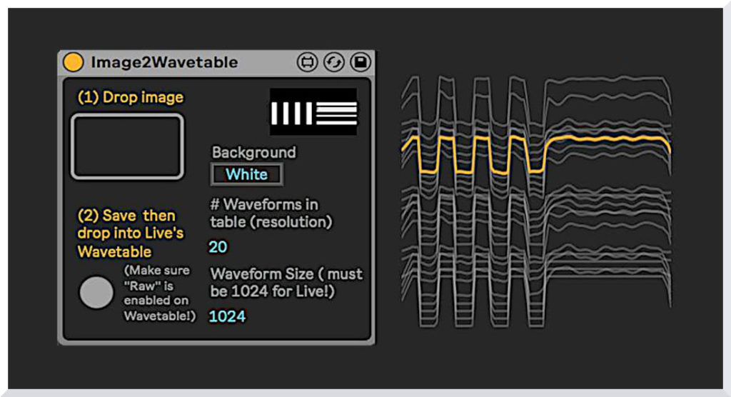 Create Ableton Live Instruments from Images with Image2Wavetable