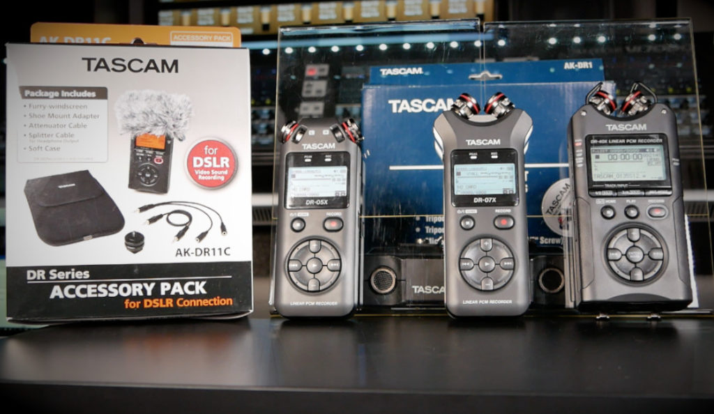 Tascam DRX Handheld Recorders Overview