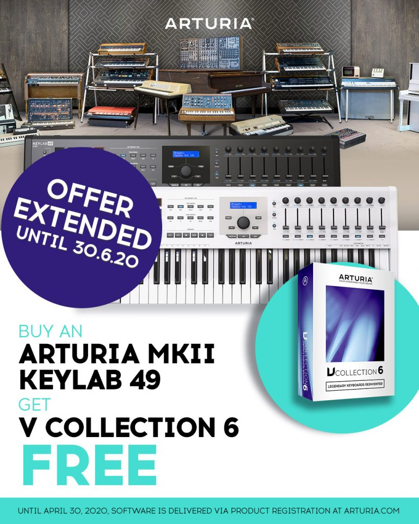 Arturia-FreeVC6-with-KeyLab49MKII-EXTENDED