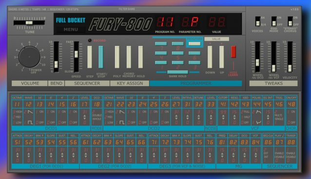 Free KORG Poly-800 plugin by Full Bucket Music Feature